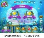 atlantis ruins playing field  ... | Shutterstock .eps vector #431891146