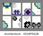 abstract background. geometric... | Shutterstock .eps vector #431895628
