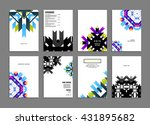 abstract background. geometric... | Shutterstock .eps vector #431895682
