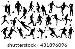 soccer silhouettes | Shutterstock .eps vector #431896096