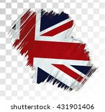 United Kingdom Flag Grunge Stain