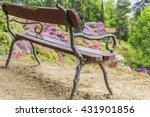 Wooden Bench In The Garden Par...