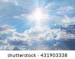 light from sky or heaven shine... | Shutterstock . vector #431903338