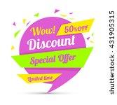 discount sticker. special offer ...   Shutterstock .eps vector #431905315