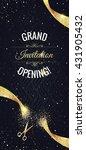 grand opening vertical banner.... | Shutterstock .eps vector #431905432