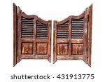 Old Rough Wooden Saloon Doors...