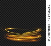 glowing fire rings with glitter ... | Shutterstock .eps vector #431916262