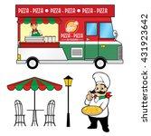 food truck   pizza | Shutterstock .eps vector #431923642