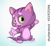 little violet cute kitten... | Shutterstock .eps vector #431925346