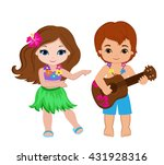 illustration of  boy playing... | Shutterstock .eps vector #431928316