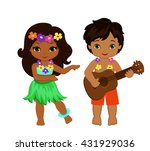 illustration of  boy playing... | Shutterstock .eps vector #431929036