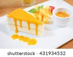 Mango Crepe  Layer Crepe Cake...