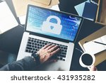 security data protection... | Shutterstock . vector #431935282