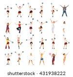 team achievement team... | Shutterstock . vector #431938222