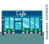 caffee shops and stores front... | Shutterstock .eps vector #431940376