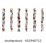 achievement idea corporate... | Shutterstock . vector #431940712