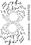 a music notes  bass and treble... | Shutterstock .eps vector #431944702