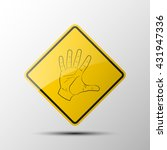 yellow diamond road sign with a ...