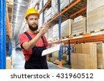 portrait of warehouse worker in ... | Shutterstock . vector #431960512