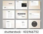 set of 9 vector templates for...   Shutterstock .eps vector #431966752