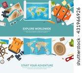 travel tourism vector... | Shutterstock .eps vector #431966926