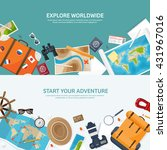 travel tourism vector... | Shutterstock .eps vector #431967016