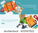 travel tourism vector... | Shutterstock .eps vector #431967022