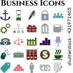 business icon set. 25 icons... | Shutterstock .eps vector #431971405