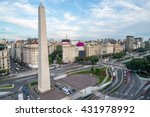 the obelisk of buenos aires ... | Shutterstock . vector #431978992