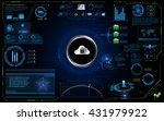 abstract hud interface ui... | Shutterstock .eps vector #431979922