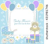baby shower boy  invitation... | Shutterstock .eps vector #431981746