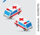 isometric space   ambulance ... | Shutterstock .eps vector #431983792