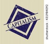 capitalism rubber stamp | Shutterstock .eps vector #431984092
