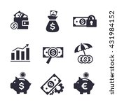 set of vector finance and... | Shutterstock .eps vector #431984152