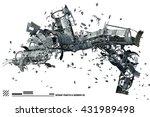 3d illustration of scrap space... | Shutterstock . vector #431989498