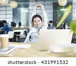 young asian business woman... | Shutterstock . vector #431991532