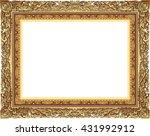 gold photo frame with corner... | Shutterstock .eps vector #431992912