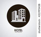 hotel design. service icon.... | Shutterstock .eps vector #431995438