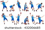 young american football player... | Shutterstock . vector #432006685