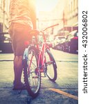 young hipster style man posing... | Shutterstock . vector #432006802