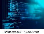 programming code abstract... | Shutterstock . vector #432008905
