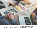 team business meeting... | Shutterstock . vector #432009058