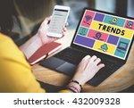 trends design create fashion... | Shutterstock . vector #432009328