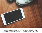 selfie of smart phone with... | Shutterstock . vector #432009775
