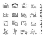 warehouse icon.line vector. | Shutterstock .eps vector #432014446