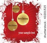 christmas card | Shutterstock .eps vector #43201525