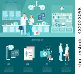medicine banners doctors and...   Shutterstock .eps vector #432023098