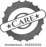 care pencil emblem | Shutterstock .eps vector #432024232