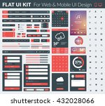 set of flat design ui elements... | Shutterstock .eps vector #432028066