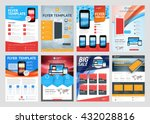 set of vector business flyer... | Shutterstock .eps vector #432028816